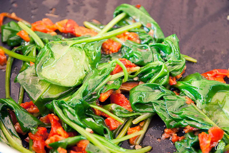 Spinach and Sun-Dried Tomato Pasta | Paleo Leap