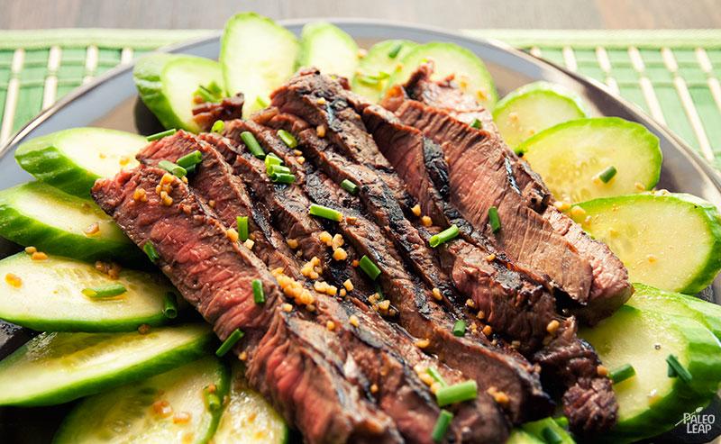 Steak and cucumber salad