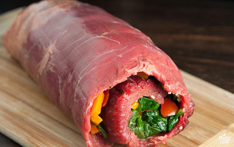 Flank steak preparation