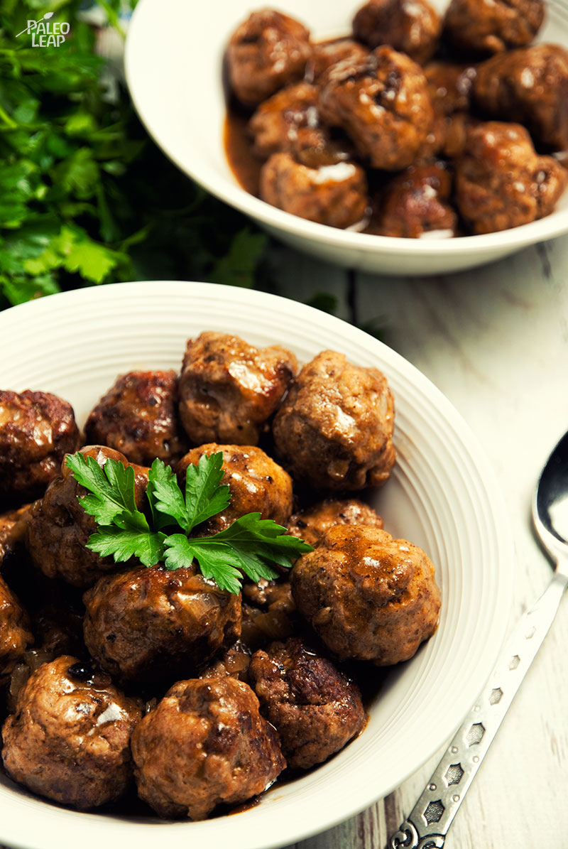Spiced Apple Swedish Meatballs Recipe — Dishmaps