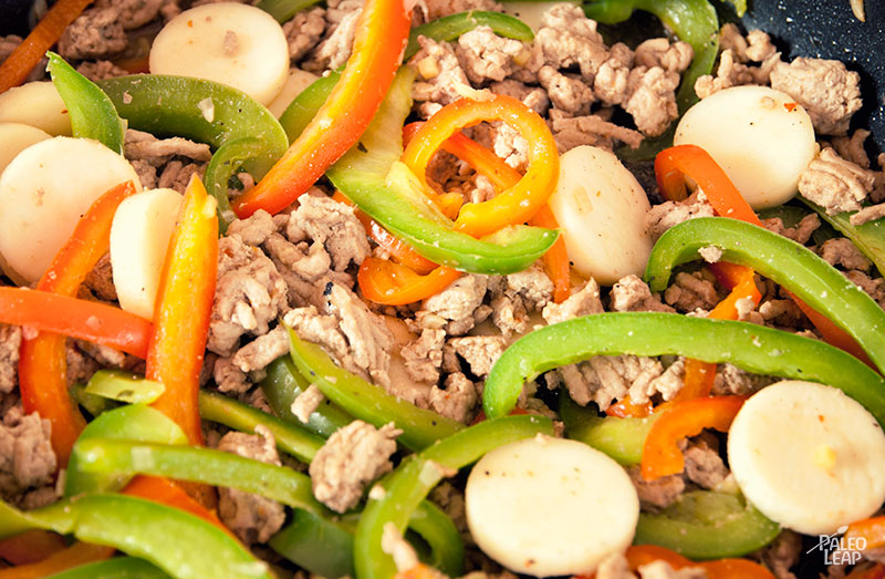Szechuan Peppers and Ground Turkey preparation