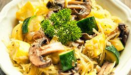 Zucchini and Mushroom Pasta