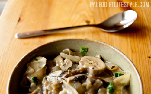 Creamy mushroom stew