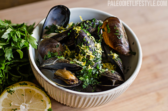 Mussels in White Wine Sauce   Paleo Leap
