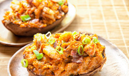 Bacon-Shrimp Stuffed Sweet Potatoes