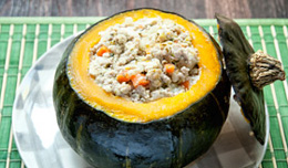 Chicken and Pork Stuffed Squash