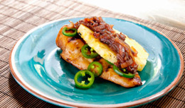 Grilled Chicken and Pineapple with Onion Relish