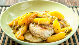 Pork Chops With Peaches