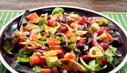 Salmon and Beet Salad With Spicy Dressing