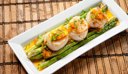 Sea Scallops and Asparagus