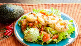 Shrimp-topped Mexican Salad
