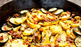 Summer Squash and Bacon Bits