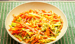 Warm Broccoli and Carrot Slaw