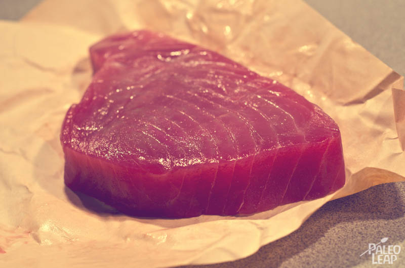 Tuna steak preparation