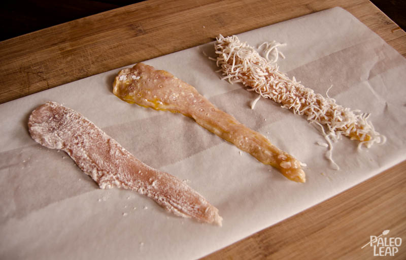 Coconut Crusted Chicken Strips Preparation