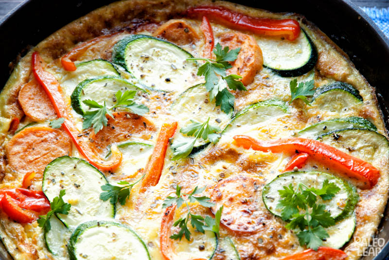Zucchini and Sweet Potato Frittata