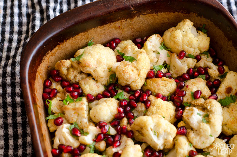 Roasted Cauliflower With Mint And Pomegranate