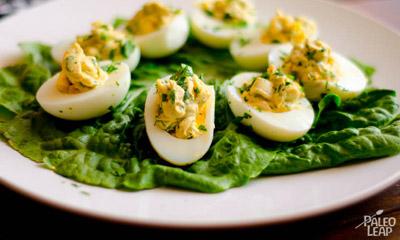Garlic And Parsley Deviled Eggs