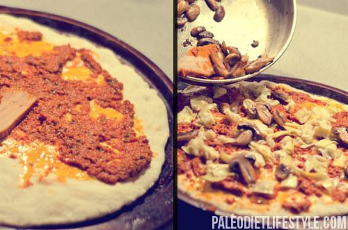 Paleo pizza preparation