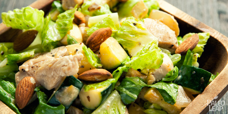 Chicken & zucchini hot salad