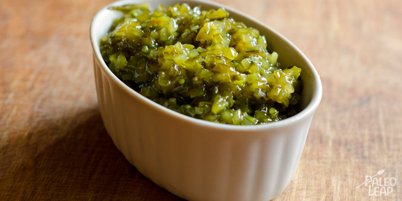 Lacto-fermented cucumber relish