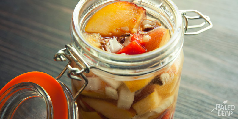 Lacto-fermented peach chutney