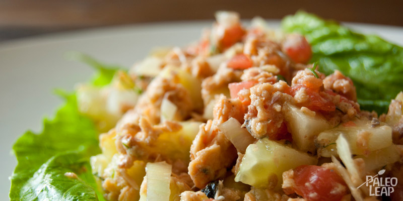 Canned salmon salad