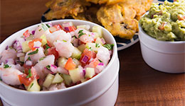 Shrimp Ceviche with Tostones