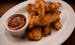 Coconut crusted chicken strips
