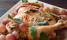 Roast chicken with grapes – A delicious roast chicken with grapes ...
