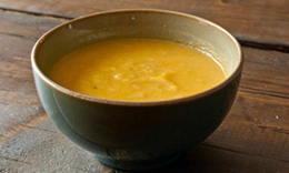 Leek and sweet potato paleo soup