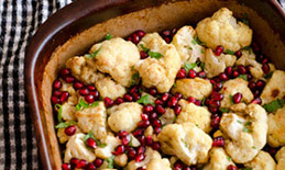 Roasted cauliflower side dish