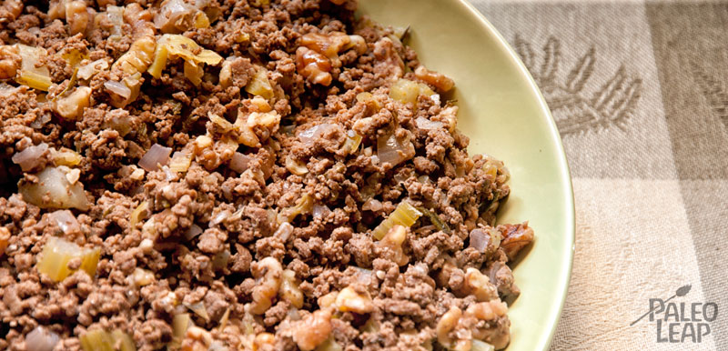 Beef, celery and walnut stuffing