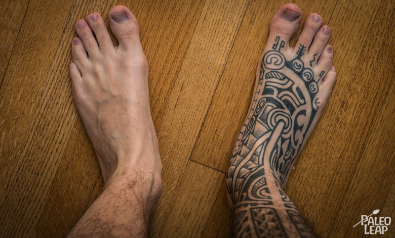Being barefoot