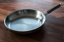 Cooking with stainless-steel