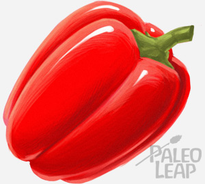 Red Bell peppers are a great source of vitamin C