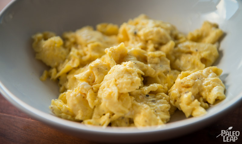 Making great scrambled eggs paleo leap for How to cook fish eggs