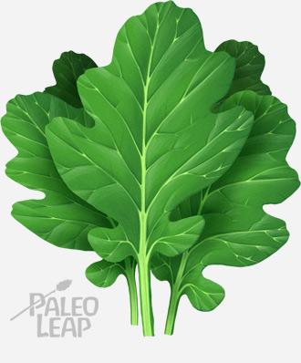 Turnip greens, very high in calcium