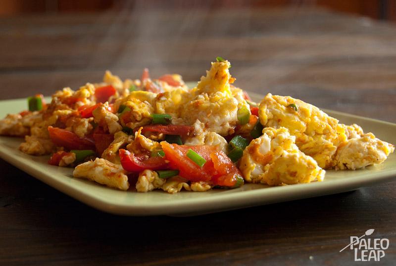 Egg and tomato stir-fry