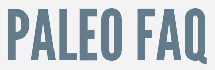 Paleo FAQ