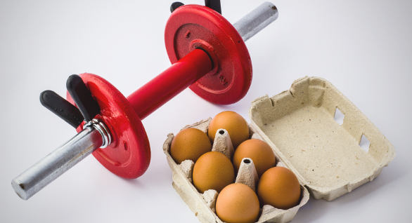 Eggs and a barbell