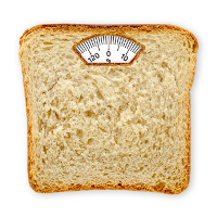 bread as a scale