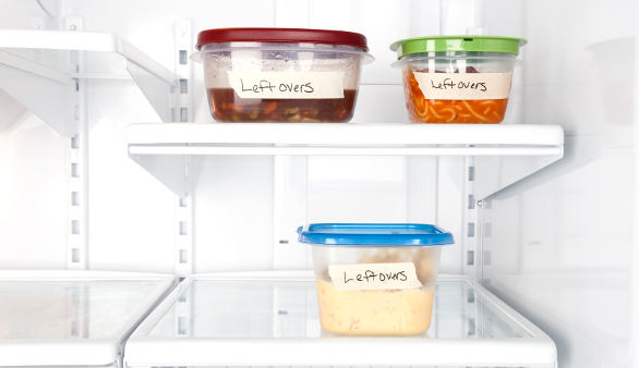 leftovers in fridge