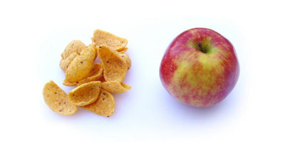 food choices: apple vs. chips