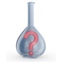 flask with question mark
