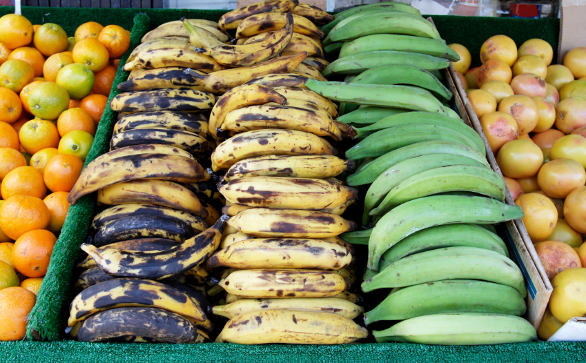 Plantains in the market