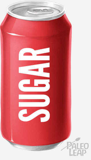 can of sugary soda