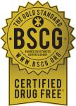 BSCG drug free seal