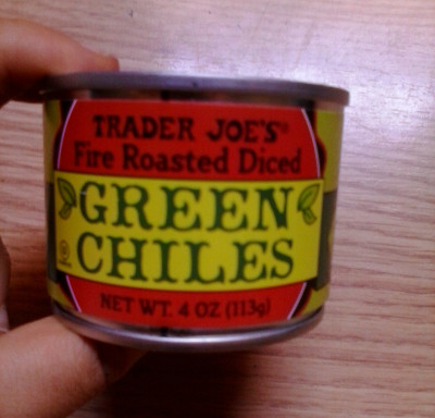 Ingredients: green chile peppers, water, calcium chloride, citric acid, salt