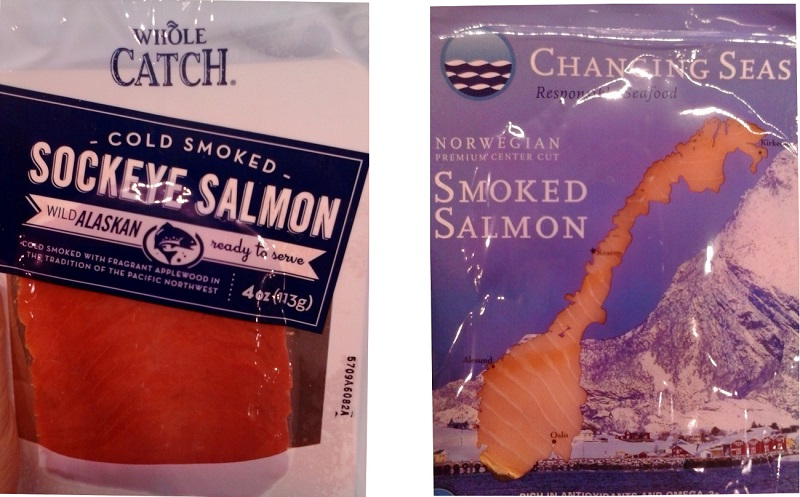 Two packages of salmon